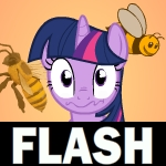 Twilight Sparkle and the Bees by Piggybank12