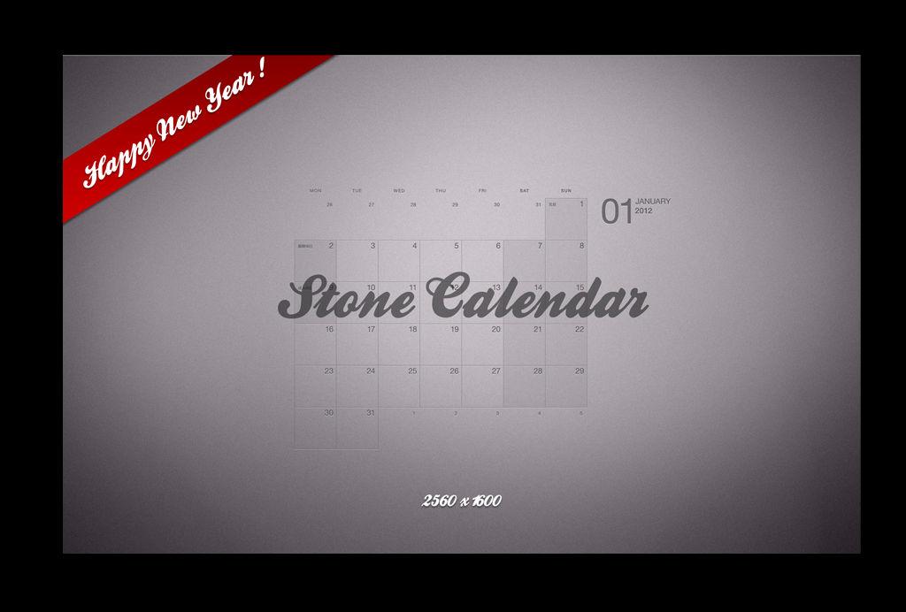 Stone Calendar 2012