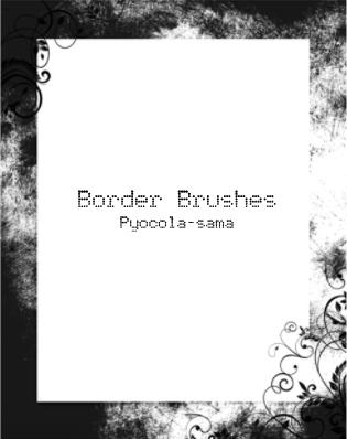 Border Brushes for Photoshop by Pyocola-sama
