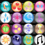 Cutie Mark Start Buttons