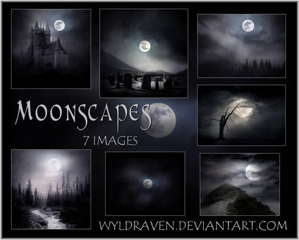 Moon Landscapes Stock Pack