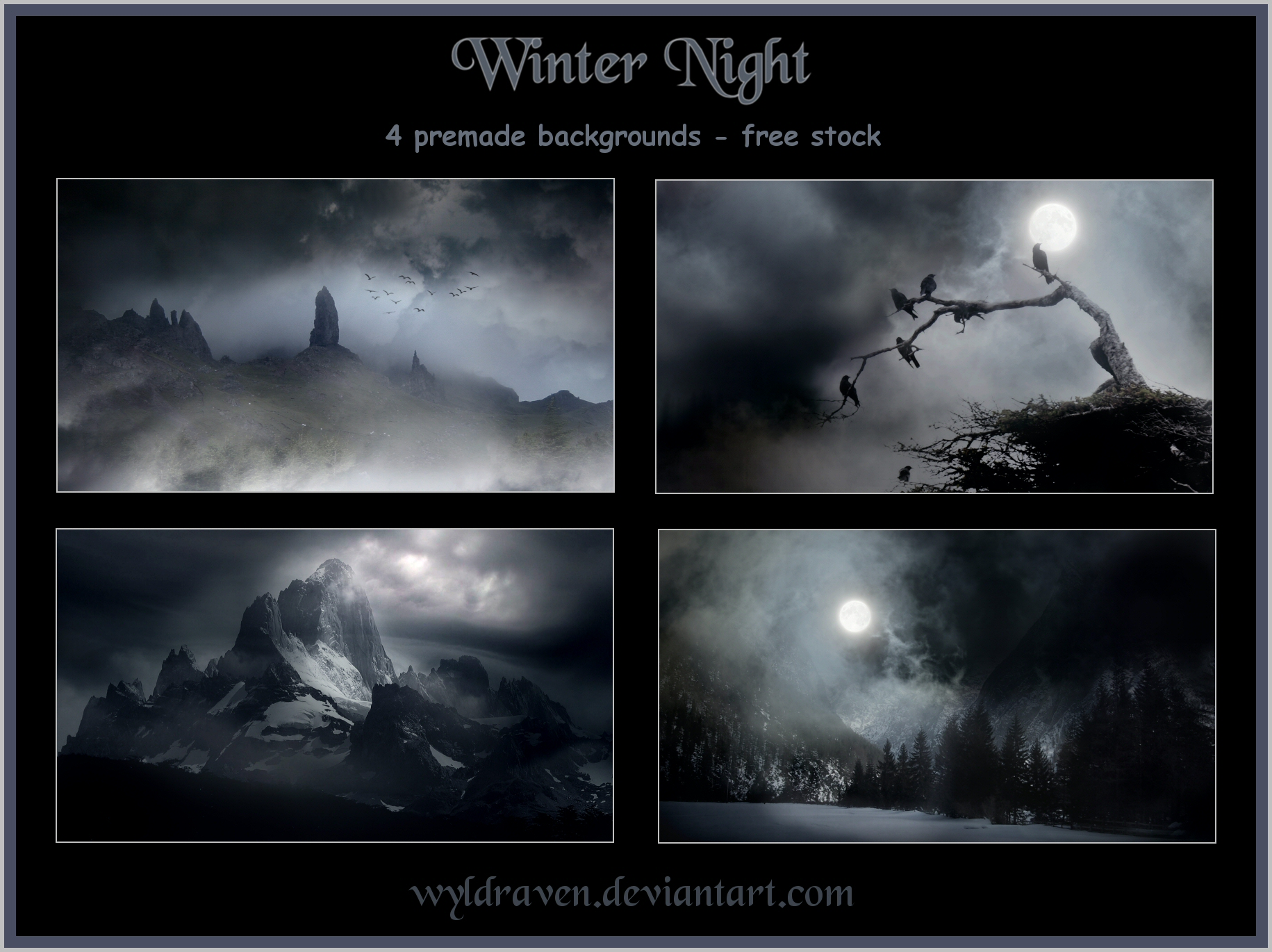 Winter Night backgrounds