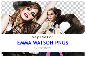 OHEmm: Six Emma Watson PNGS by 19-Misfits