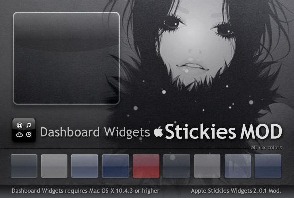 Stickies Dashboard Widgets MOD by Gpopper