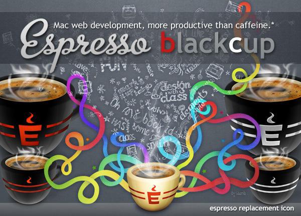 Espresso black cup by Gpopper