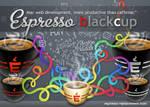 Espresso black cup