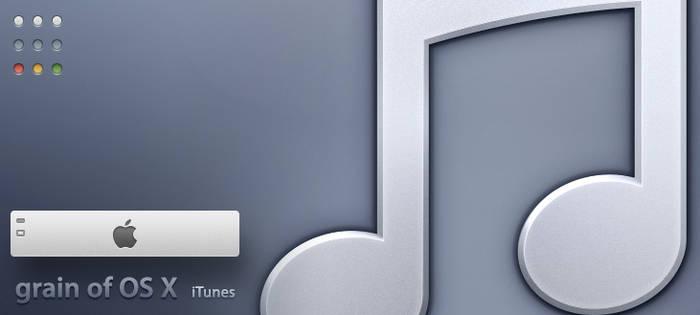 grain of OS X iTunes