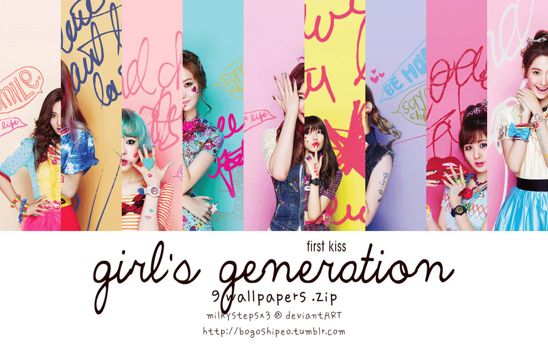 Girls' Generation: First Kiss Wallpaper Set by milkystepsx3