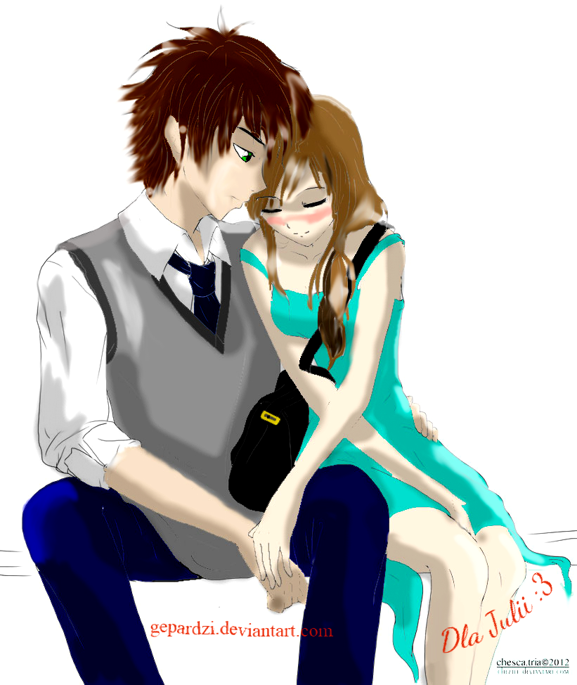 Anime Boy And Girl In Love Wallpaper : Anime Boy and Girl love by Gepardzi on DeviantArt
