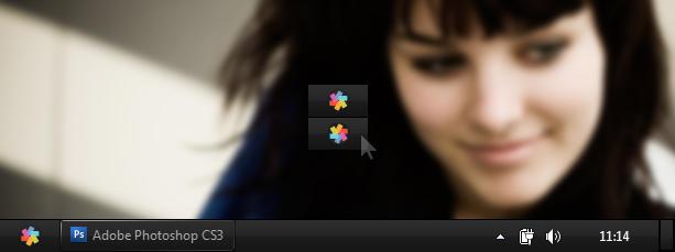 Win7 GTK Startmenu button by desss