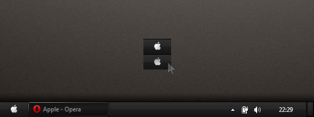 Win7 Apple Startmenu button by desss