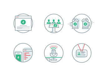 Social badges (gif) by OtherPlanet