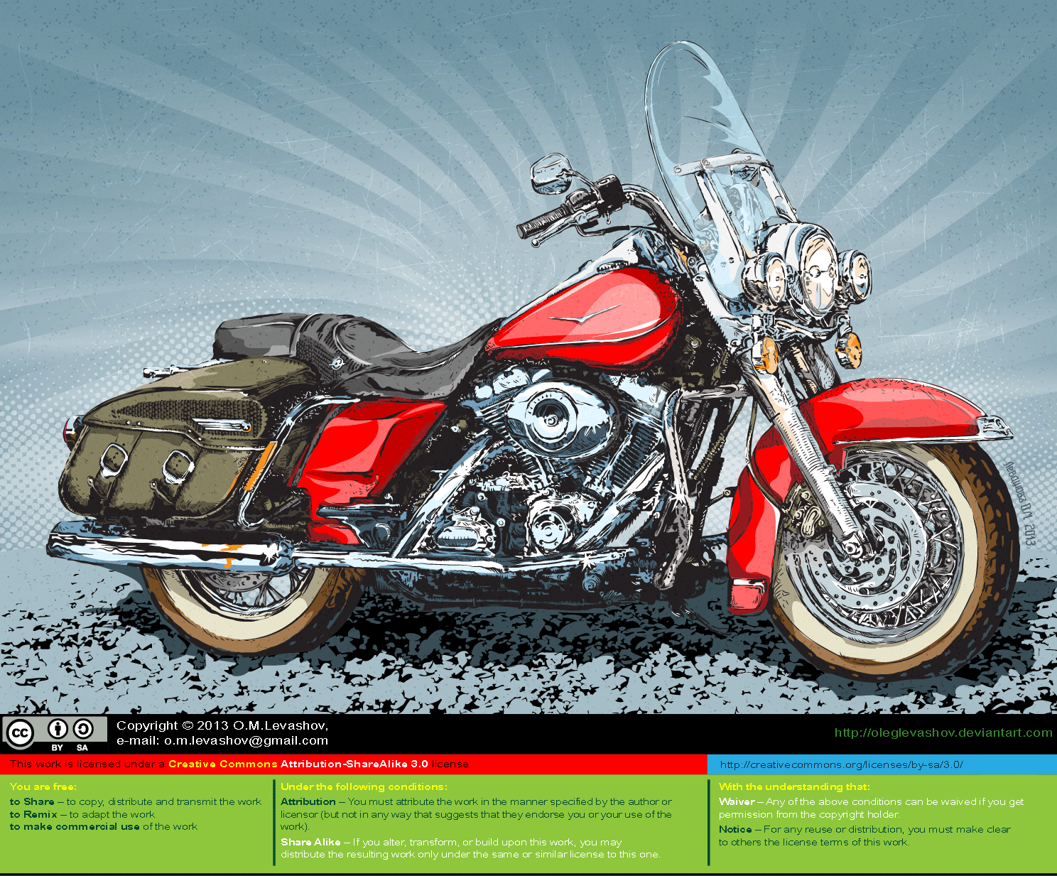 Harley Davidson (Color) [vector source] by OlegLevashov on ...