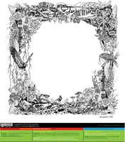 Plants and Guitar (full border) [vector source] by OlegLevashov