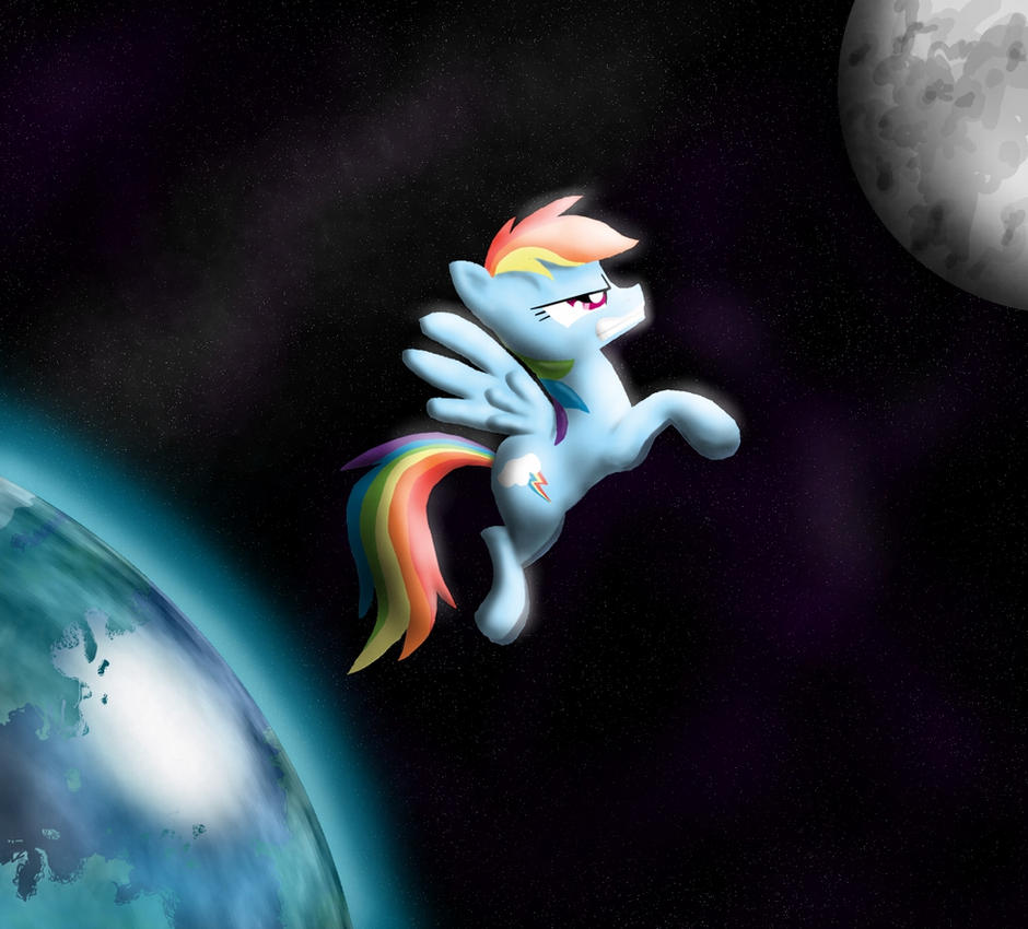 Rainbow into Space by Cgeta