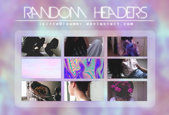 random headers. by iLittleDreamer