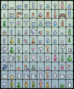 100 glassware sprites