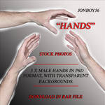 3 Male Hands - PSD File