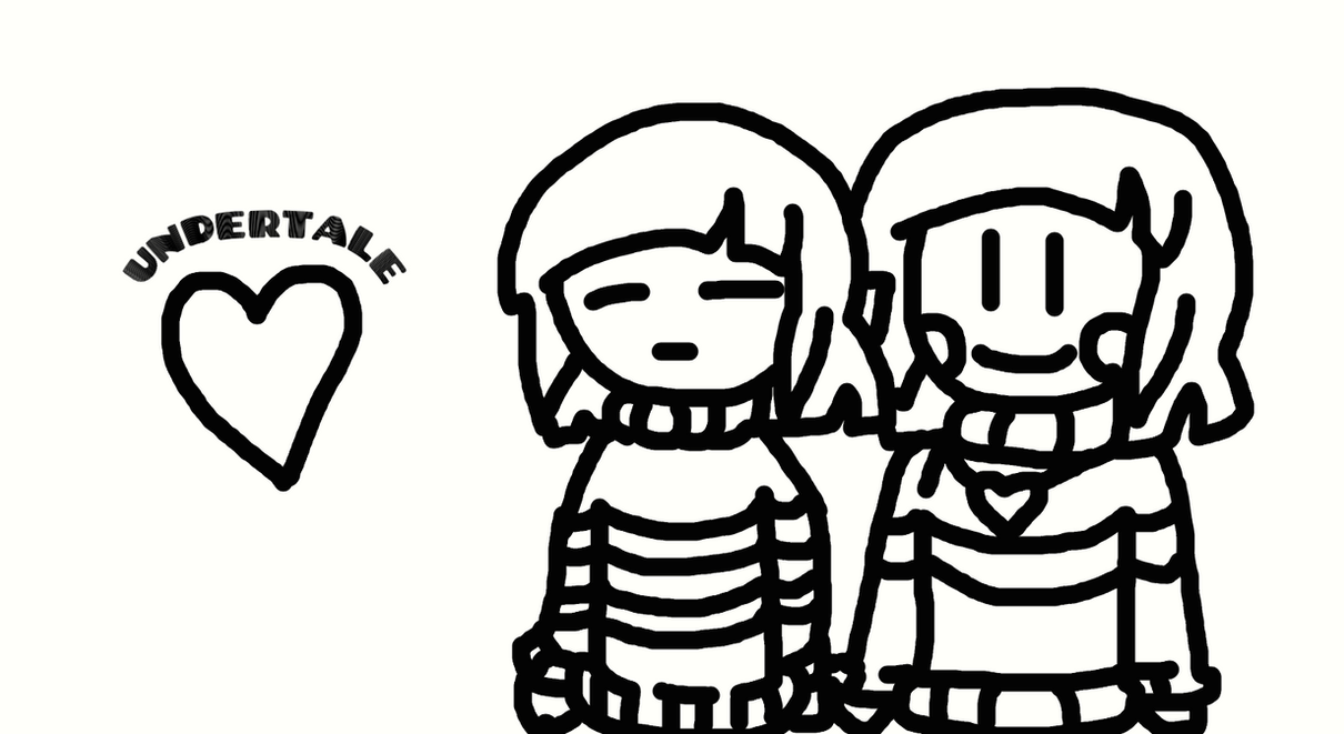 Frisk And Chara Undertale Anima