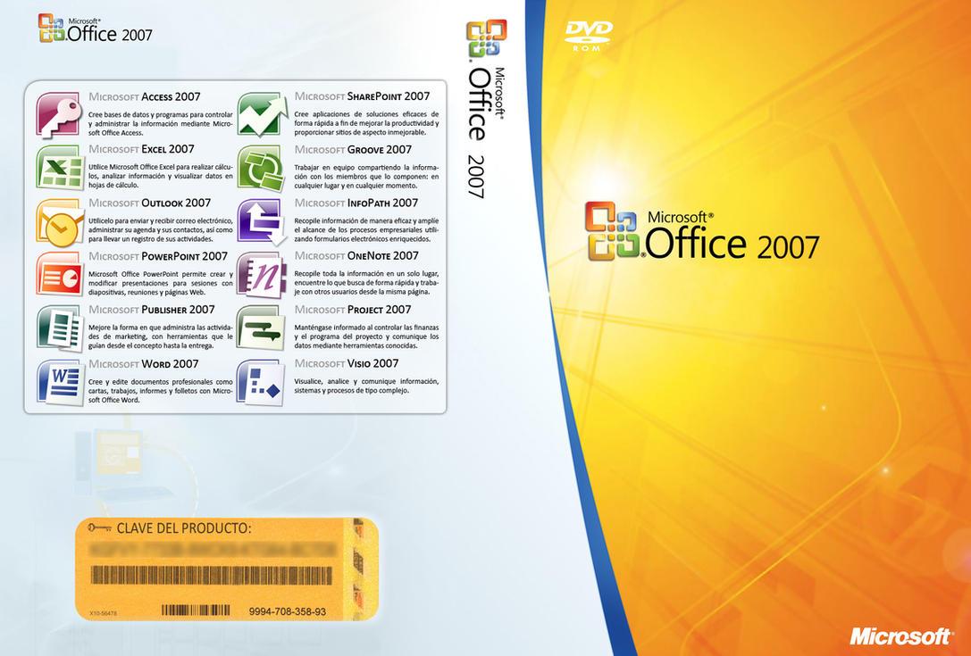 MSOffice 2007 Custom DVD Cover by SkullBoarder