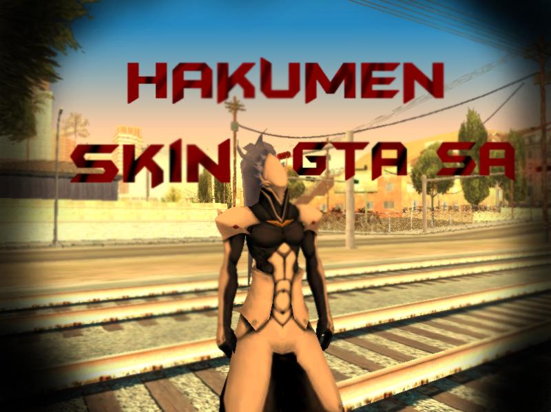 Hakumen - BlazBlue - GTA SA Skin by RyuHoshi-DeadCrow
