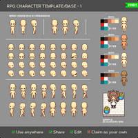 RPG Character Template - 1 by KucingBudhug