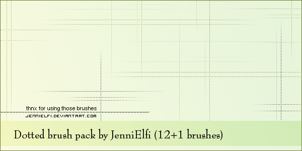 Dotted brush pack by JenniStock