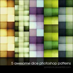 Dice patterns by JenniStock