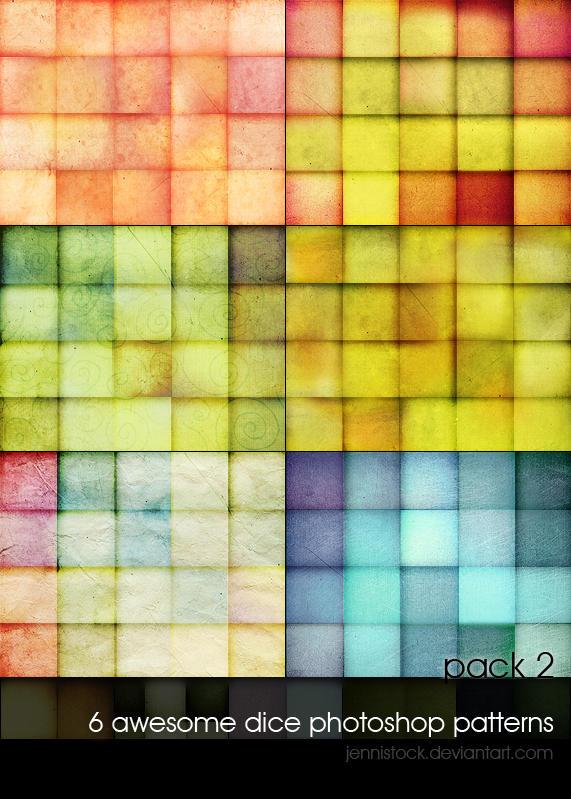 Dice patterns 2 by JenniStock
