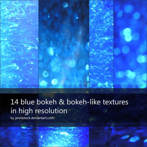 Blue bokeh by JenniStock
