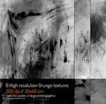 6 Hi-res Grunge textures 300 dpi / 30x40 cm