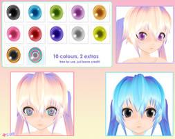 MMD: Bright Eye Pack by cure-capsule