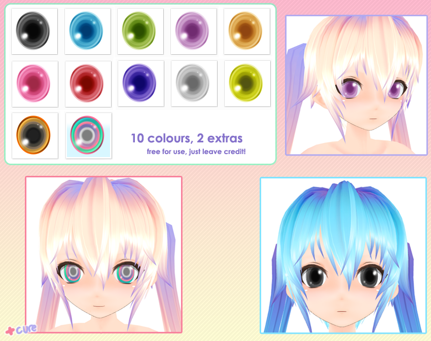 [PULLIPS,DALS...] Custom Flat faciles . Mmd__bright_eye_pack_by_cure_capsule-d4a1oa6