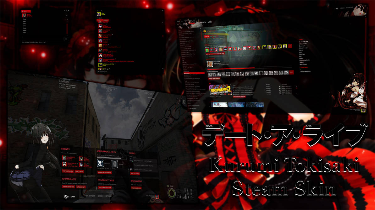 Steam Skin - Kurumi Tokisaki - All Res by MaxiKingPL on