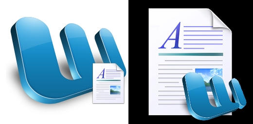 MS Word Document dock icons by LamboMan7