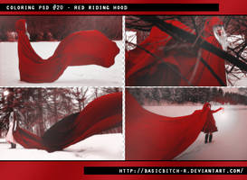 PSD #20 - Red Riding Hood by basicbitch-r
