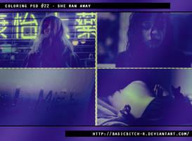 PSD #22 - She Ran Away by basicbitch-r
