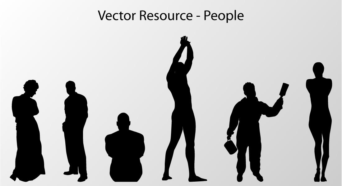 Vector Resource - People by chaosmuse