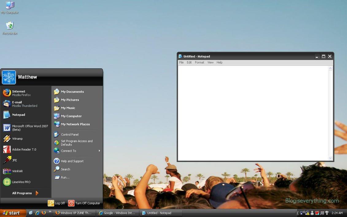 Windows xp zune theme free download