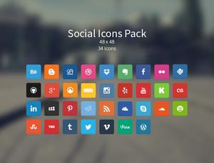 Soft Social Icons Pack v1