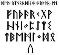 Den urnordiska Futharken -font by PeKj