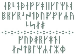 Medieval Rune Alphabet - font by PeKj