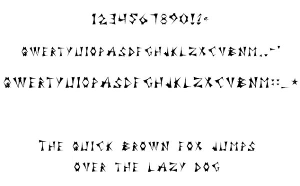 Font Kilskrift (cuneiform) by PeKj
