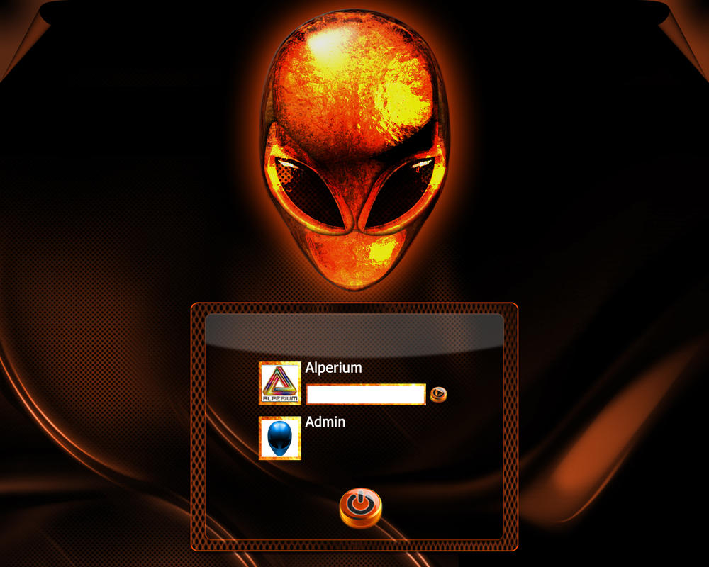 AlienWare Fire Logon by klen70