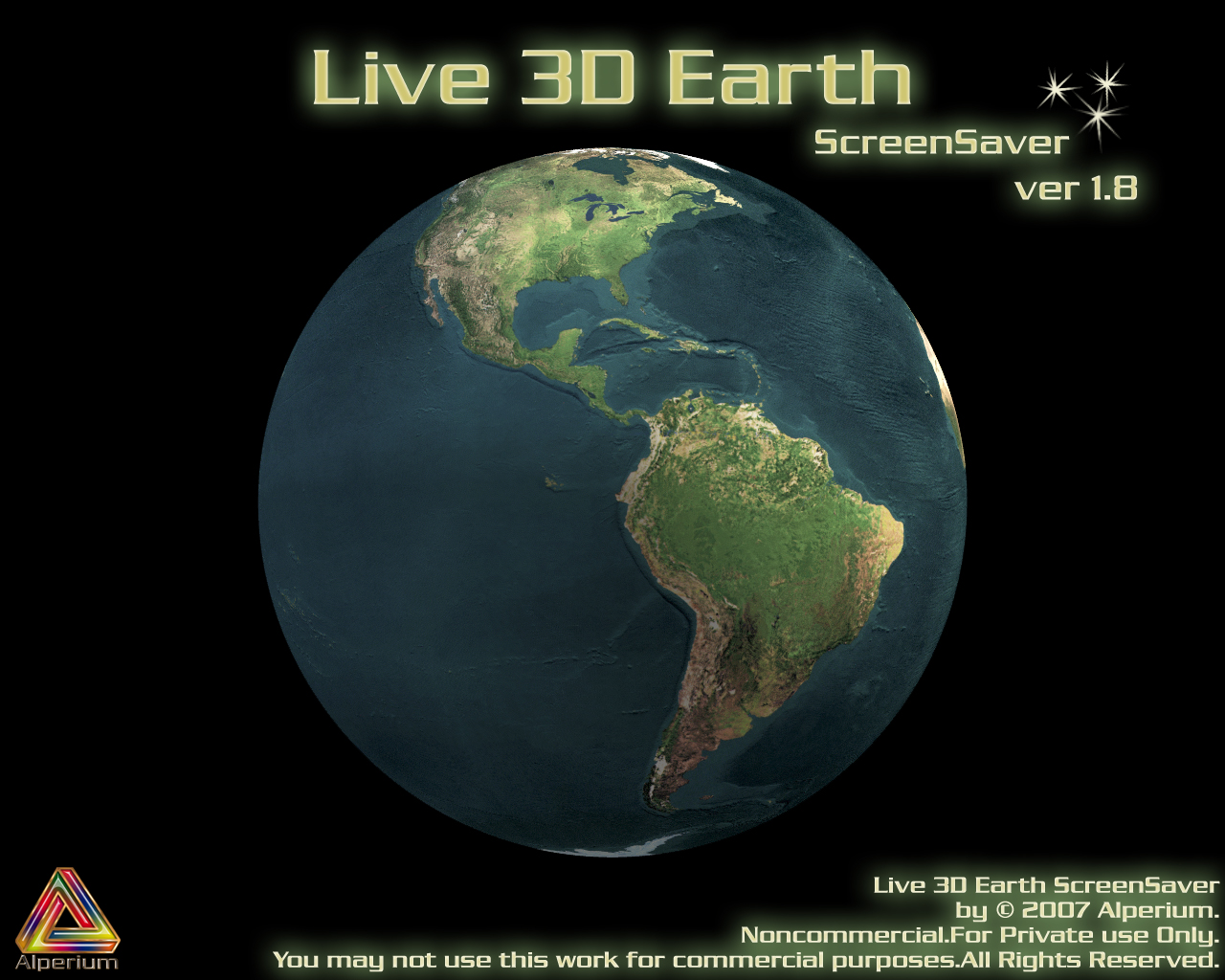Live 3D Earth 1.8 ScreenSaver by klen70
