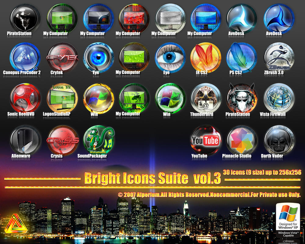 Bright Icons Suite vol.3 by klen70