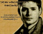 Dean Winchester's Handwriting