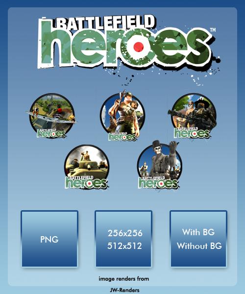 Battlefield heroes dock icons by vika09 on deviantart