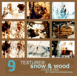 Textures - Snow and Wood by onecoldcanadian