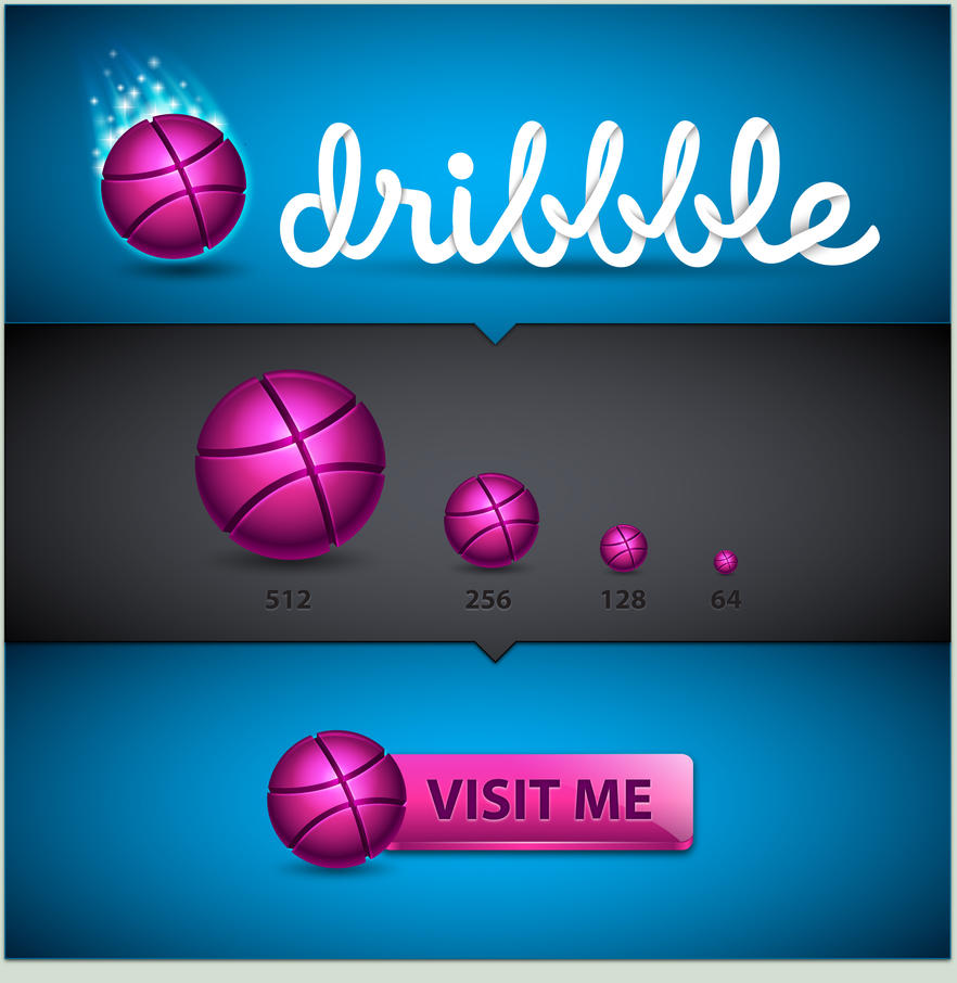 Dribbble Icon Set by MelissaReneePohl